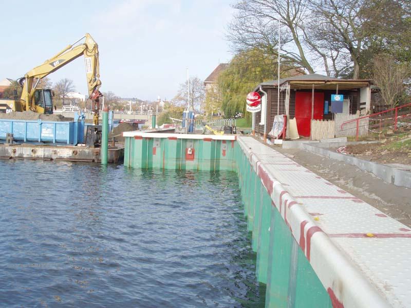 Hansestadt Rostock – Ufersicherung am Bootsverleih in Warnemünde